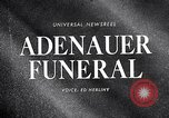 Image of Adenauer funeral Cologne Germany, 1967, second 1 stock footage video 65675026445