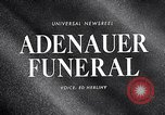 Image of Adenauer funeral Cologne Germany, 1967, second 3 stock footage video 65675026445
