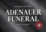 Image of Adenauer funeral Cologne Germany, 1967, second 4 stock footage video 65675026445