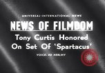 Image of Tony Curtis Los Angeles California USA, 1959, second 3 stock footage video 65675026456
