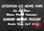 Image of Academy awards Los Angeles California USA, 1959, second 4 stock footage video 65675026462