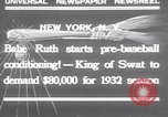 Image of Babe Ruth New York United States USA, 1932, second 1 stock footage video 65675026479