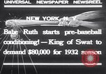Image of Babe Ruth New York United States USA, 1932, second 2 stock footage video 65675026479