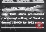Image of Babe Ruth New York United States USA, 1932, second 3 stock footage video 65675026479