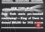 Image of Babe Ruth New York United States USA, 1932, second 4 stock footage video 65675026479
