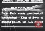 Image of Babe Ruth New York United States USA, 1932, second 5 stock footage video 65675026479