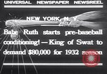 Image of Babe Ruth New York United States USA, 1932, second 6 stock footage video 65675026479
