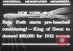 Image of Babe Ruth New York United States USA, 1932, second 7 stock footage video 65675026479