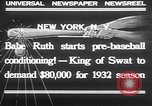 Image of Babe Ruth New York United States USA, 1932, second 10 stock footage video 65675026479