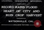 Image of flood Watsonville California USA, 1932, second 1 stock footage video 65675026481