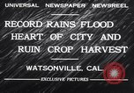 Image of flood Watsonville California USA, 1932, second 4 stock footage video 65675026481