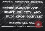 Image of flood Watsonville California USA, 1932, second 10 stock footage video 65675026481
