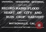 Image of flood Watsonville California USA, 1932, second 11 stock footage video 65675026481