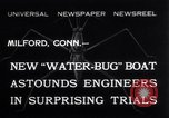 Image of Pontoon Hydroplane Connecticut USA, 1932, second 1 stock footage video 65675026485