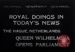 Image of Queen Wilhelmina The Hague Netherlands, 1932, second 1 stock footage video 65675026486