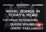 Image of Queen Wilhelmina The Hague Netherlands, 1932, second 10 stock footage video 65675026486