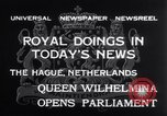 Image of Queen Wilhelmina The Hague Netherlands, 1932, second 11 stock footage video 65675026486