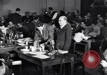 Image of Screen writer Morrie Ryskind testifies at HUAC hearing Washington DC USA, 1947, second 2 stock footage video 65675026584