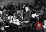 Image of Screen writer Morrie Ryskind testifies at HUAC hearing Washington DC USA, 1947, second 3 stock footage video 65675026584