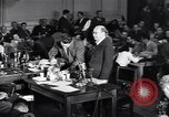 Image of Screen writer Morrie Ryskind testifies at HUAC hearing Washington DC USA, 1947, second 4 stock footage video 65675026584
