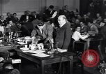 Image of Screen writer Morrie Ryskind testifies at HUAC hearing Washington DC USA, 1947, second 5 stock footage video 65675026584