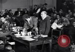 Image of Screen writer Morrie Ryskind testifies at HUAC hearing Washington DC USA, 1947, second 6 stock footage video 65675026584