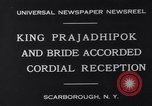 Image of King Prajadhipok Scarborough New York USA, 1931, second 3 stock footage video 65675026599