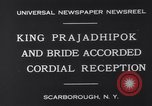 Image of King Prajadhipok Scarborough New York USA, 1931, second 5 stock footage video 65675026599