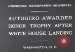 Image of Plane Autogyro Washington DC USA, 1931, second 1 stock footage video 65675026600