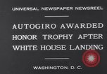 Image of Plane Autogyro Washington DC USA, 1931, second 2 stock footage video 65675026600