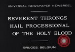 Image of annual religious rite Bruges Belgium, 1931, second 1 stock footage video 65675026601