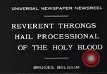 Image of annual religious rite Bruges Belgium, 1931, second 7 stock footage video 65675026601