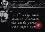 Image of Texas farm boys visit Chicago Stockyards United States USA, 1920, second 6 stock footage video 65675026609