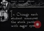 Image of Texas farm boys visit Chicago Stockyards United States USA, 1920, second 8 stock footage video 65675026609