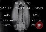 Image of Empire State Building New York United States USA, 1930, second 5 stock footage video 65675026625