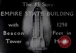Image of Empire State Building New York United States USA, 1930, second 8 stock footage video 65675026625