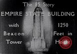 Image of Empire State Building New York United States USA, 1930, second 12 stock footage video 65675026625