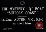 Image of Q Boat Suffolk Coast Atlantic Ocean, 1916, second 2 stock footage video 65675026659