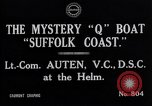 Image of Q Boat Suffolk Coast Atlantic Ocean, 1916, second 4 stock footage video 65675026659