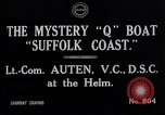 Image of Q Boat Suffolk Coast Atlantic Ocean, 1916, second 6 stock footage video 65675026659