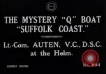 Image of Q Boat Suffolk Coast Atlantic Ocean, 1916, second 7 stock footage video 65675026659