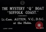 Image of Q Boat Suffolk Coast Atlantic Ocean, 1916, second 8 stock footage video 65675026659