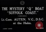Image of Q Boat Suffolk Coast Atlantic Ocean, 1916, second 9 stock footage video 65675026659