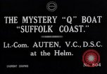 Image of Q Boat Suffolk Coast Atlantic Ocean, 1916, second 10 stock footage video 65675026659