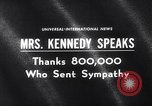 Image of Jacqueline Kennedy Washington DC USA, 1964, second 1 stock footage video 65675026687