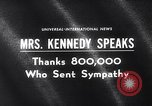 Image of Jacqueline Kennedy Washington DC USA, 1964, second 3 stock footage video 65675026687