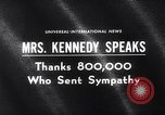 Image of Jacqueline Kennedy Washington DC USA, 1964, second 4 stock footage video 65675026687