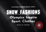 Image of winter fashion Vermont United States USA, 1964, second 1 stock footage video 65675026688
