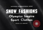 Image of winter fashion Vermont United States USA, 1964, second 3 stock footage video 65675026688