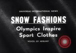 Image of winter fashion Vermont United States USA, 1964, second 5 stock footage video 65675026688